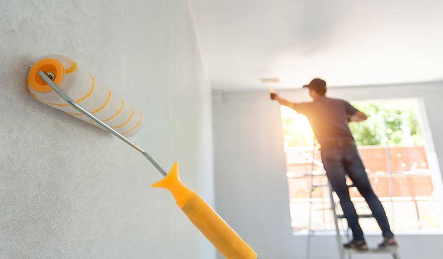 Olika tjänster som erbjuds hos en målare